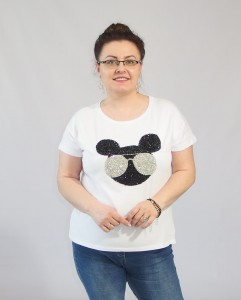 T-shirt WEEK plus size MIKI biała