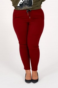 Spodnie PAULA plus size - bordo